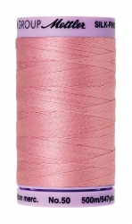 Mettler Silk-finish Cotton 50W 1057 Rose Quartz 500m Spool