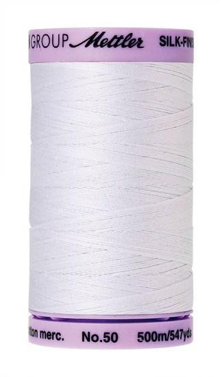 Mettler Silk-finish Cotton 50W 2000 White 500m Spool