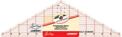Sew Easy Half Diamond Patchwork Ruler