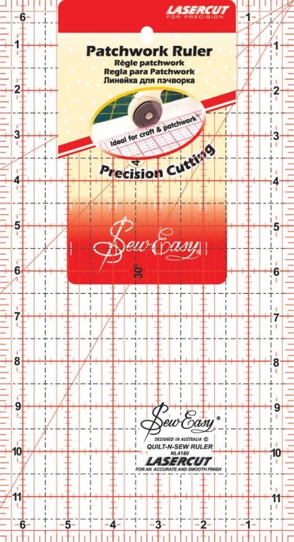 """Sew Easy Patchwork Ruler 6 ½"""" x 12 ½"""""""