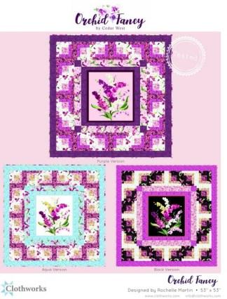 Orchid Fancy Free Pattern designed by Rochelle Martin