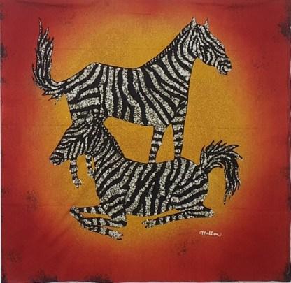 Island Batik Panel - Zebras