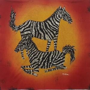 Island Batik Panel – Zebras