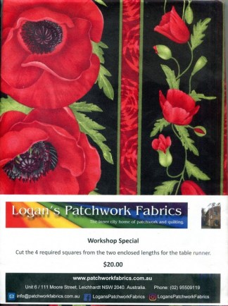 Scarlet Poppies Table Runner - Workshop Special Pack