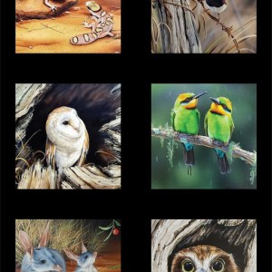 Wildlife Art 5 Panel DV3708