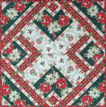 Christmas Table Topper Quilt - Finished Sample