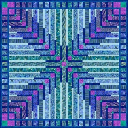 Crossed Feathers Quilt Kit using Marble Essence