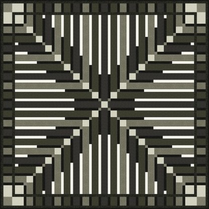 Crossed Feathers Quilt Kit using Texture-Graphix