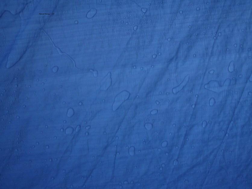 Rain on a tarp