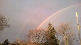 Double rainbow in March