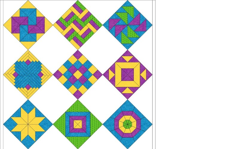 rotary cutting sampler quilt