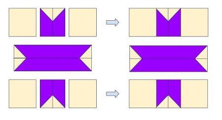 Esquema de como armar una estrella de patchwork simple y sencilla