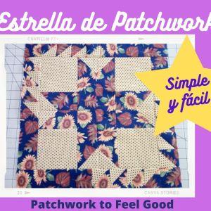 Estrella Simple y Sencilla de Patchwork