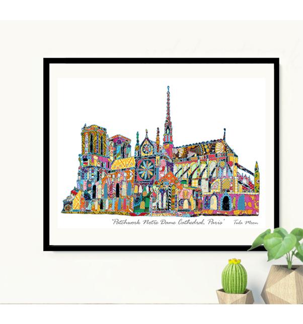 Patchwork-Notre-Dame-Cathedral-Paris-Print