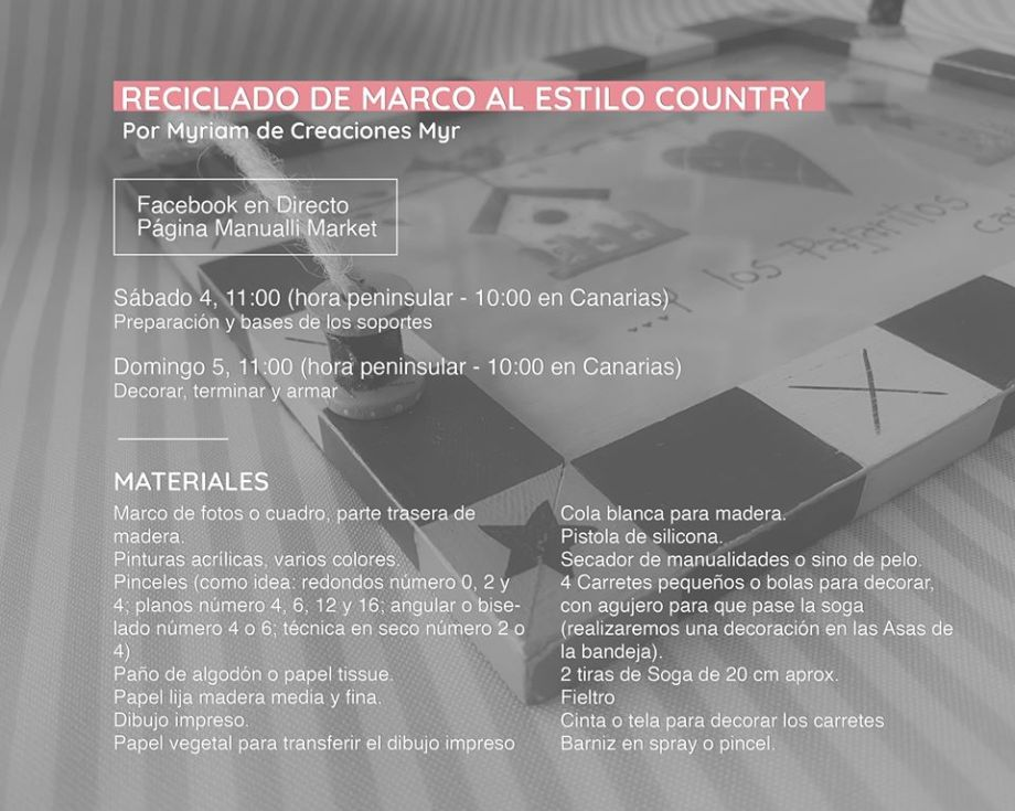 Materiales reciclado de marco al estilo country