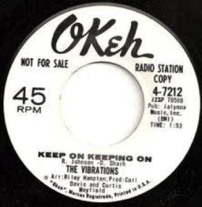 Okeh Post World War II label in a 45-format.