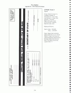 USWBC Federal War Ballot Return Envelope