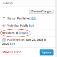 Missing WordPress Post: Revision feature