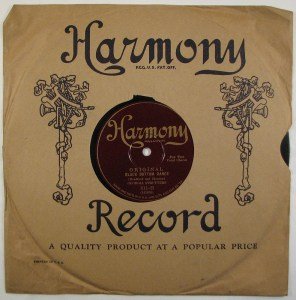 Harmony Record Sleeve