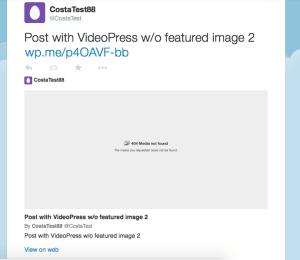 VideoPress on Twitter