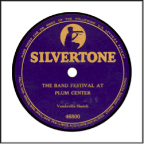 Silvertone Record Label Late 1917