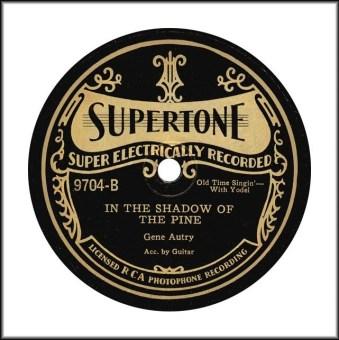Supertone Record gene-autry