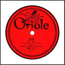 Record Label: 1924-1927. Orange and black.