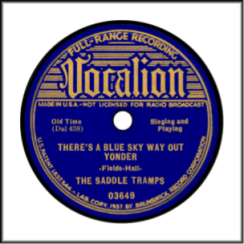 Record Label: 1937-1940. Bright blue label.