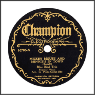 "Record Label: 1927-1936. Note the word ""Electrograph"" beneath Champion label."