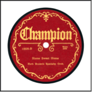 Champion Record Label: 1925-1927.