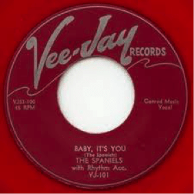 Record Label: Example of a 45. Note the larger opening.