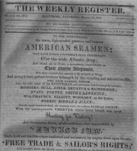 War of 1812 Reenactment, Free Trade and Sailors Rights