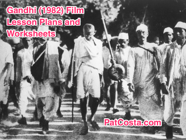 Gandhi Movie World History II SOLs Lesson Plan and Worksheet