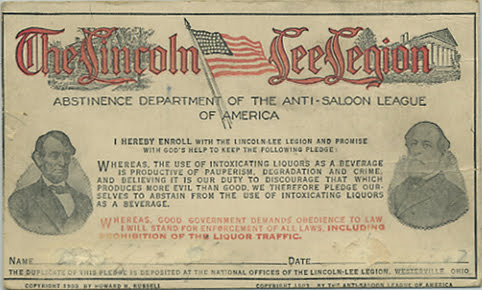 lincoln lee pledge card 1903