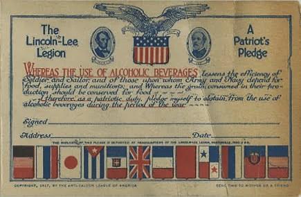 lincoln lee pledge card 1917