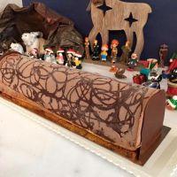 Noël : Bûche au chocolat et à la vanille