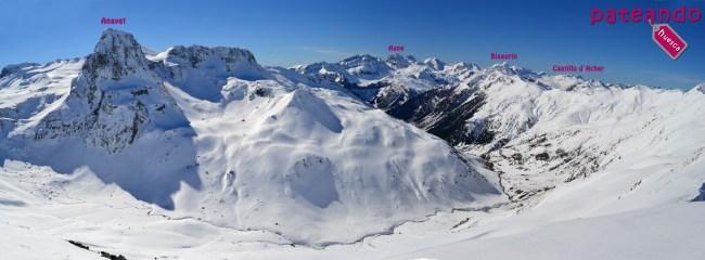 Anayet, Aspe, Bisaurín, Castillo d´Acher y otros picos