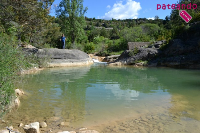 Poza en el río Alcanadre