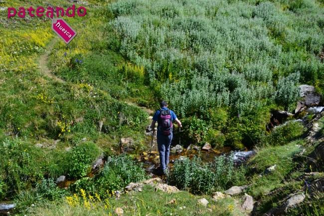 Cruzando el Barranco de Sanchacollons