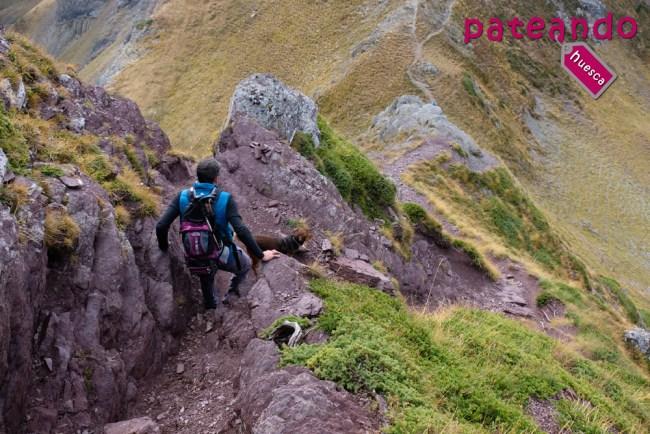 Descenso desde el Pico los Monjes