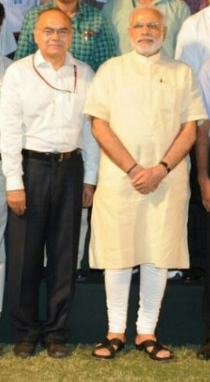 Prabhakar with PM Modi