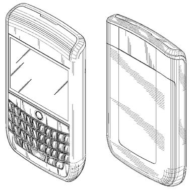 RIM Blackberry Phone Design Patent
