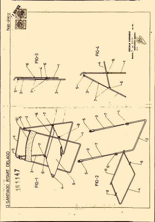 SILLA PLEGABLE PERFECCIONADA 32  Patentadoscom