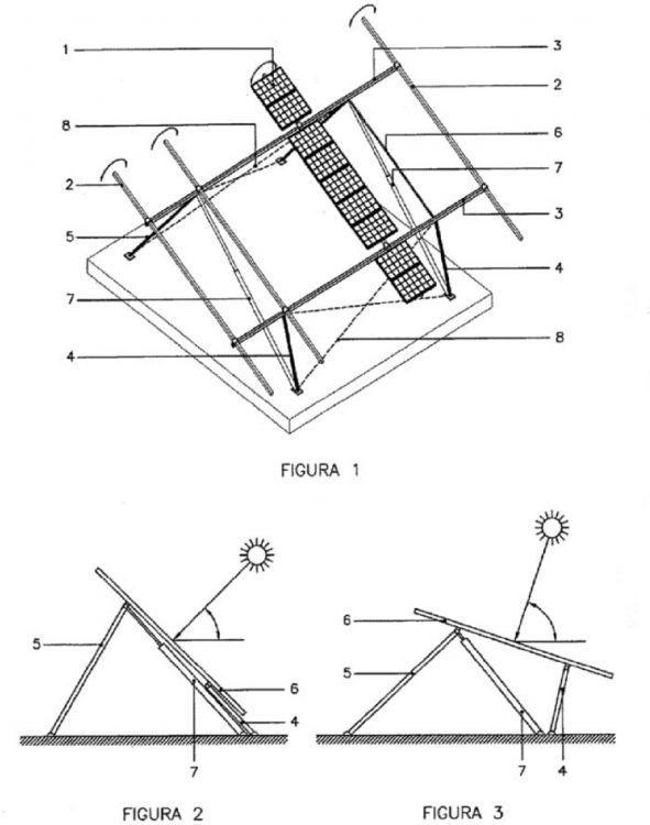SEGUIDOR SOLAR SOBRE SOPORTE ARTICULADO. : Patentados.com