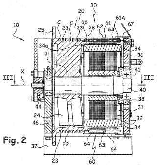 Máquina que comprende una polea y un motor eléctrico, en