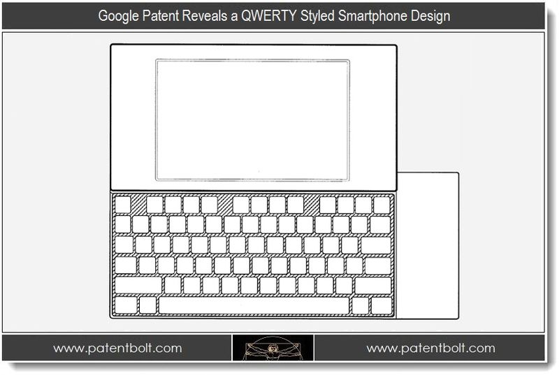 Google Patent Reveals a QWERTY Styled Smartphone Design