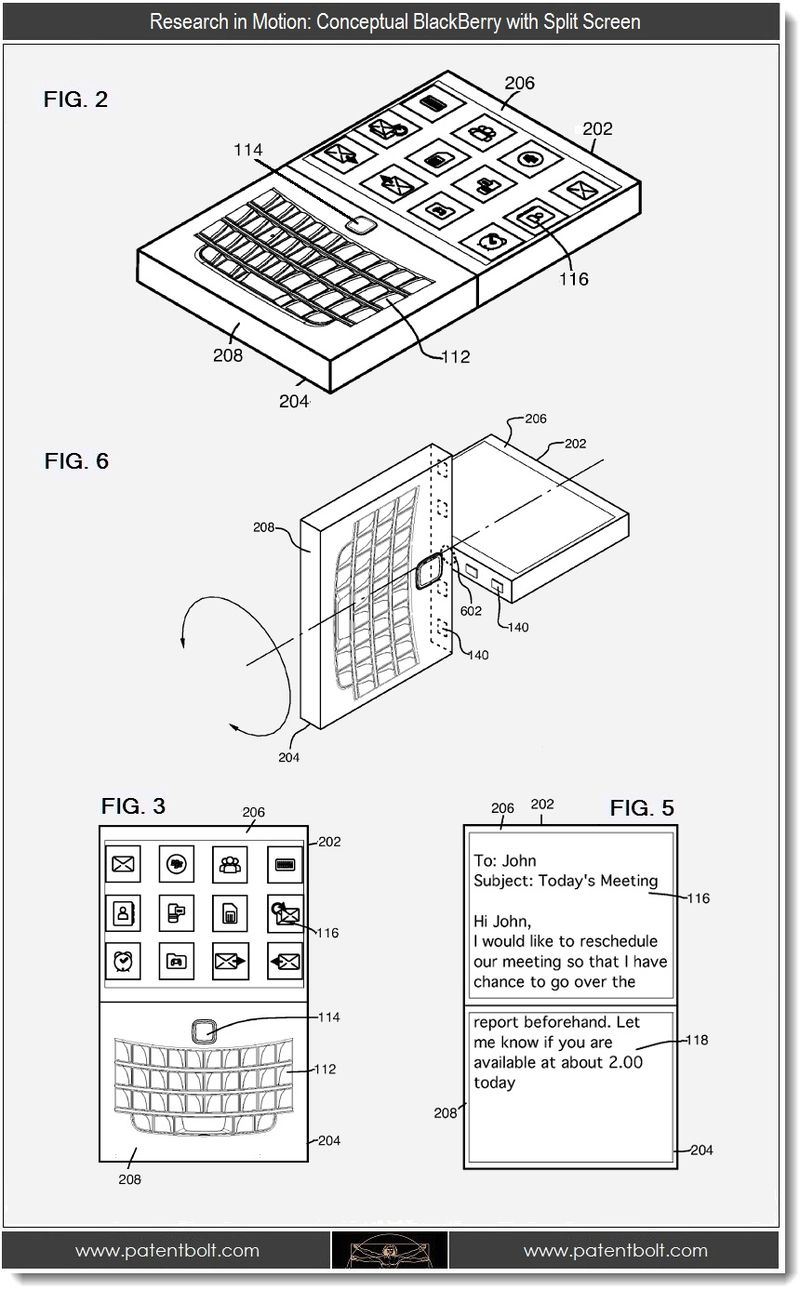 RIM Patents Illustrate Reinvention of BlackBerry & Beyond