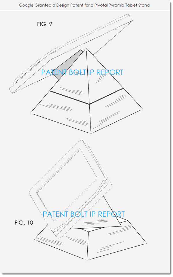 Google Wins a Pyramid Tablet Stand Design Patent