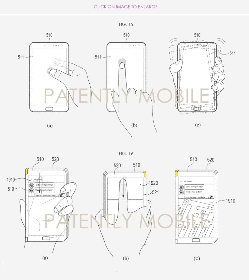 medium resolution of 6 x samsung foldable smartphone patent figs 15abc 19abc patently mobile nov 2018