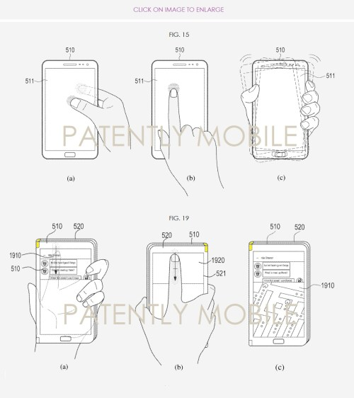 small resolution of 6 x samsung foldable smartphone patent figs 15abc 19abc patently mobile nov 2018